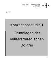Grundlagen der militärstrategischen Doktrin - Gruppe für eine ...