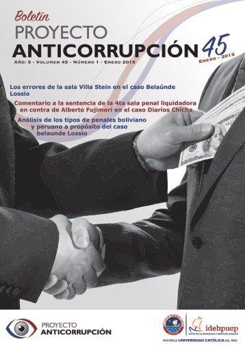Boletín: Proyecto Anticorrupción Nº 45 - Enero 2015