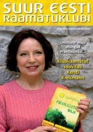 Klubiraamatut soovitab Kersti Kreismann - Suur Eesti Raamatuklubi
