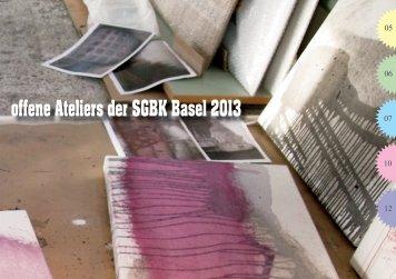 offene Ateliers der SGBK Basel 2013
