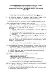 Tudományos és Tudományos Diákköri Bizottság ... - NymE - SEK