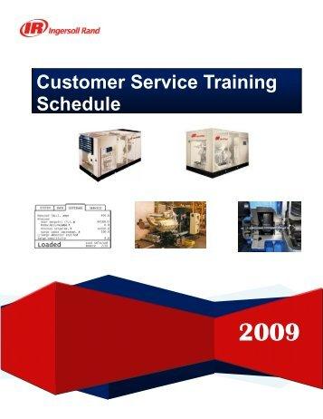 Customer Service Training Schedule Ingersoll Rand