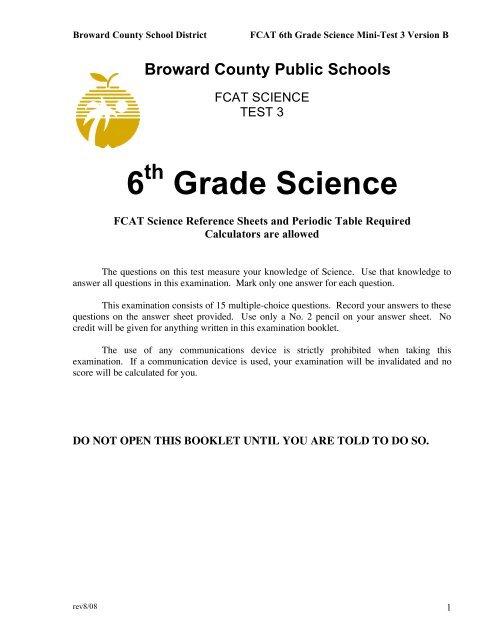 6 Grade Science