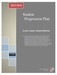 Student Progression Plan - LCS Sharepoint Site - Leon County ...