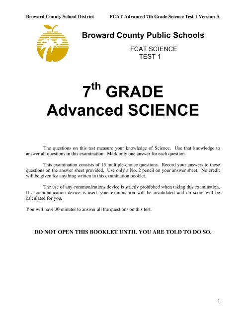 7 GRADE Advanced SCIENCE - LCS Sharepoint Site