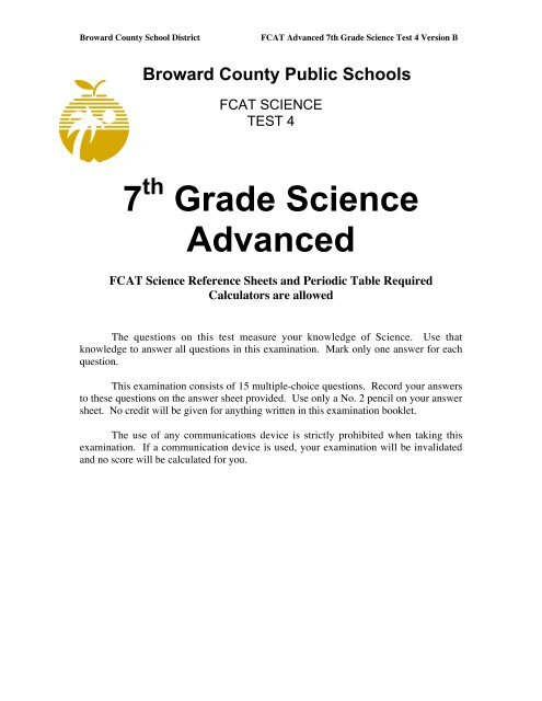 7 Grade Science Advanced
