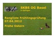 Rangliste - SKBS OG Basel