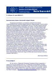 NYME SEK Hírlevél V. évf. 43. szám 2008.09.11.pdf