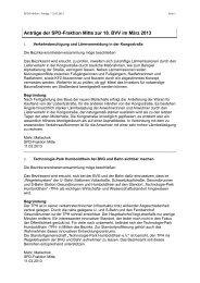 Anträge der SPD-Fraktion Berlin-Mitte im März 2013
