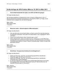 Große Anfragen der SPD-Fraktion Berlin-Mitte im März 2013