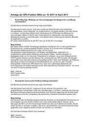 Anträge der SPD-Fraktion Berlin-Mitte vom 09. April 2013