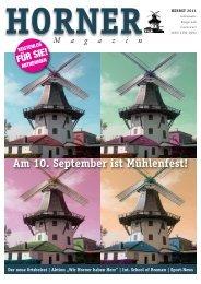 Am 10. September ist Mühlenfest! - HORNER Magazin