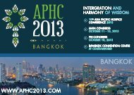 BANGKOK - 10th asia pacific hospice conference 2013