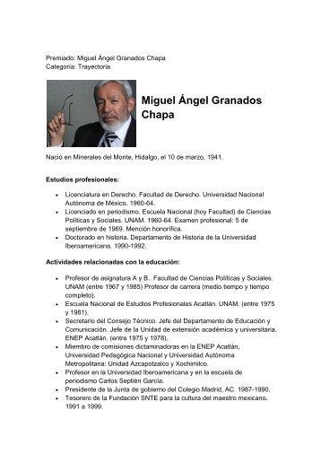 Miguel Ángel Granados Chapa - Museo de la Prensa