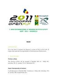 i open internacional d´andorra de pitch & putt aapp - 2011