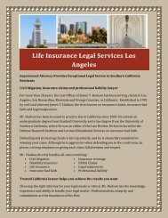 Life Insurance Legal Services Los Angeles