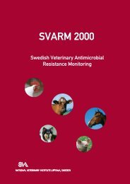 Swedish Veterinary Antimicrobial Resistance Monitoring SVARM 2000