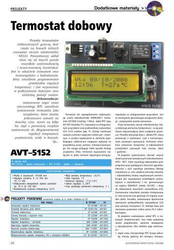 Termostat dobowy - Elektronika Praktyczna