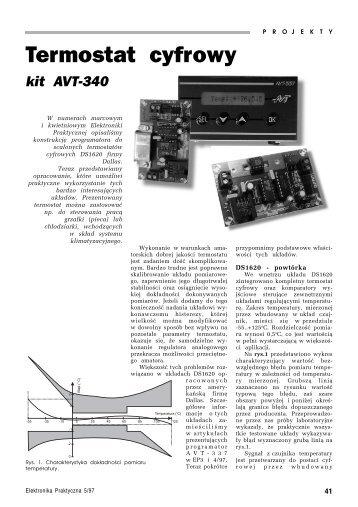Termostat cyfrowy - AVT-340 - Elektronika Praktyczna