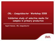 Validation study of selective media for samples in primary ... - SVA