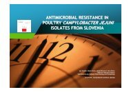 Antimicrobial Resistance in Poultry Campylobacter jejuni ... - SVA