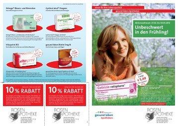 % RABATT % RABATT - Rosen-Apotheke
