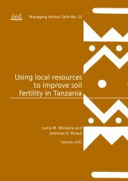 Using local resources to improve soil fertility in Tanzania - IIED pubs