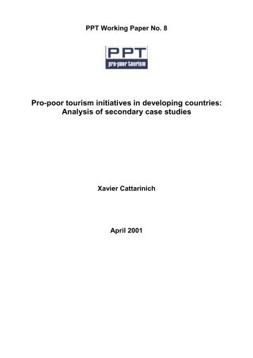 Pro-poor tourism initiatives in developing countries ... - Your Projects