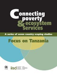 Connecting Poverty and Ecosystem Services - International Institute ...