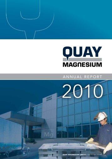 2010 Annual Report - Quay Magnesium