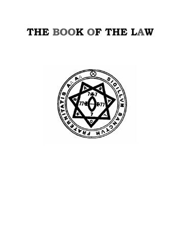 THE BOOK OF THE LAW - Thomas Voxfire