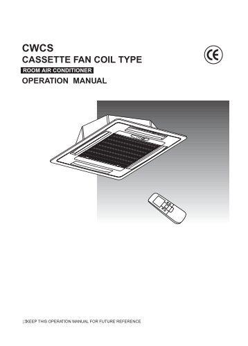 cwcs cassette fan coil type