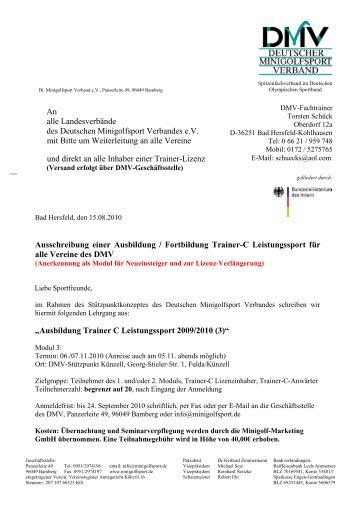 Download Ausschreibung - Deutscher Minigolfsport Verband