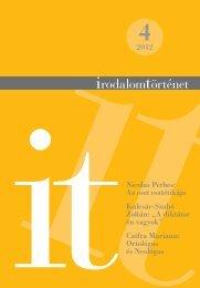 2012/4. szám - Irodalomtörténet