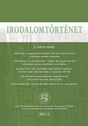 2011/3. szám - Irodalomtörténet