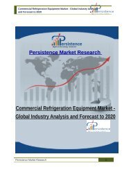 Commercial Refrigeration Equipment Market - Global Industry Analysis and Forecast to 2020
