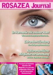 Stand - Deutsche Rosazea Hilfe  eV ROSAZEA JOURNAL