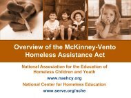 McKinney-Vento Homeless Assistance Act and Collaboration