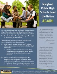 Maryland Public High Schools Lead the Nation Again!