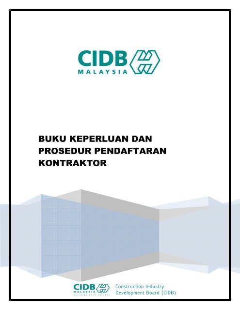 Buku Keperluan Prosedur Pendaftaran Kontraktor 091014