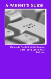 A PArent's Guide - Maryland State Department of Education