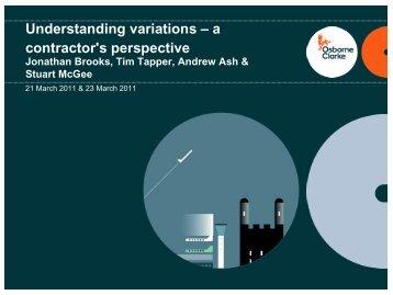 Understanding variations – a contractor's perspective