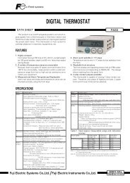 DIGITAL THERMOSTAT - Western Gauge and Instruments Ltd.