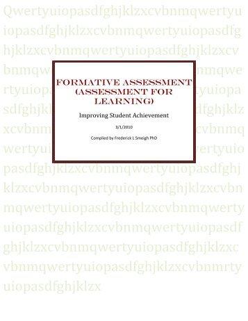 FORMATIVE ASSESSMENT (Assessment for learning)