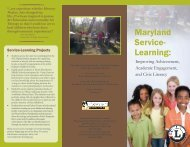 Service-Learning Brochure - Maryland State Department of Education