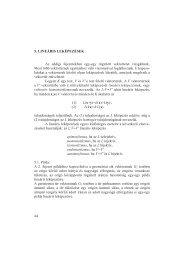 44 5. LINEÁRIS LEKÉPEZÉSEK Az eddigi fejezetekben egy-egy ...