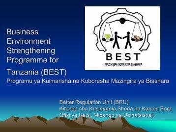 BEST - Tanzania Development Gateway