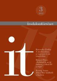 2012/3. szám - Irodalomtörténet