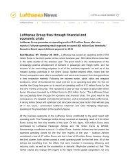 101028 lufthansa Group flies through financial and economic crisis