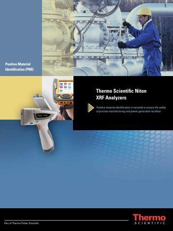 Thermo Scientific Niton XRF Analyzers